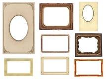 Conjunto de ocho bastidores de la foto de la vendimia Imagen de archivo libre de regalías