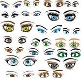 Conjunto de ojos Stock de ilustración