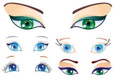 Conjunto de ojos Imagen de archivo