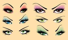 Conjunto de ojos ilustración del vector