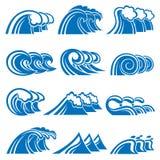 Conjunto de ondas Imágenes de archivo libres de regalías