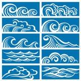 Conjunto de ondas Fotografía de archivo