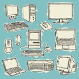 Conjunto de ordenadores ilustración del vector