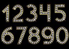 Conjunto de oro del número Imágenes de archivo libres de regalías