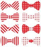 Conjunto de pajaritas rojas del vector imagen de archivo