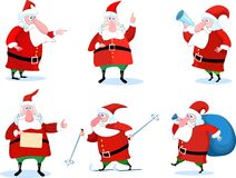 Conjunto de Papá Noel Foto de archivo