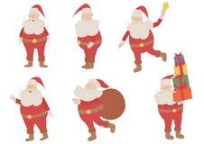 Conjunto de Papá Noel del vector Imagenes de archivo