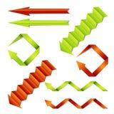 Conjunto de papel del vector de las flechas Foto de archivo libre de regalías