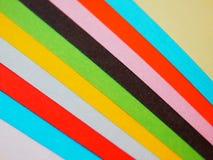 Conjunto de papeles del color Imágenes de archivo libres de regalías