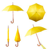 Conjunto de paraguas Fotos de archivo libres de regalías