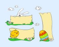 Conjunto de Pascua Foto de archivo libre de regalías
