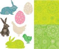Conjunto de Pascua. stock de ilustración
