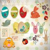 Conjunto de Pascua Fotos de archivo