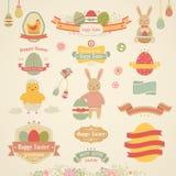 Conjunto de Pascua Imagenes de archivo