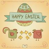 Conjunto de Pascua Imagen de archivo