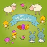 Conjunto de Pascua Imagen de archivo libre de regalías