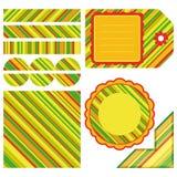 Conjunto de Pascua de elementos del diseño de la raya Fotos de archivo libres de regalías
