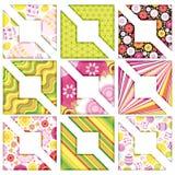 Conjunto de Pascua de la esquina, elementos del diseño. Fotos de archivo libres de regalías
