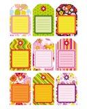 Conjunto de Pascua de la etiqueta, escritura de la etiqueta, elementos del diseño. Foto de archivo libre de regalías