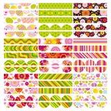 Conjunto de Pascua de la frontera, elementos del diseño. Fotos de archivo