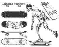 Conjunto de patines stock de ilustración