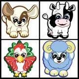 Conjunto de pequeños Animal-símbolos del horóscopo chino Fotos de archivo libres de regalías