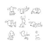 Conjunto de perros divertidos de la historieta libre illustration