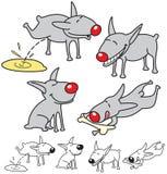 Conjunto de perros lindos. Imágenes de archivo libres de regalías