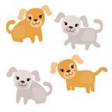 Conjunto de perros lindos Imagen de archivo libre de regalías