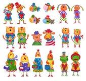 Conjunto de personajes de dibujos animados Fotografía de archivo libre de regalías