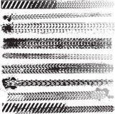 Conjunto de pistas del neumático Fotografía de archivo libre de regalías