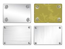 Conjunto de placas de metal Fotografía de archivo libre de regalías