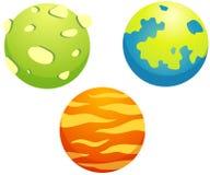 Conjunto de planetas Foto de archivo