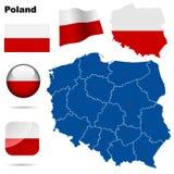Conjunto de Polonia. Imagen de archivo