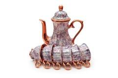 Conjunto de porcelana con la caldera Foto de archivo libre de regalías