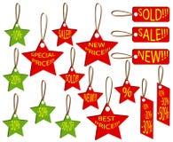 Conjunto de precios Imagen de archivo libre de regalías