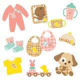 Conjunto de producto del bebé Fotografía de archivo