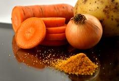 Conjunto de productos dietéticos Imagen de archivo libre de regalías
