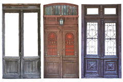 Conjunto de puertas envejecidas imagen de archivo libre de regalías