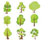 Conjunto de ?rboles de la historieta Plantas verdes libre illustration
