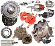 Conjunto de recambios automotores Foto de archivo