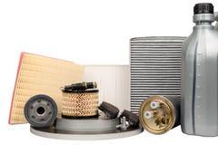 Conjunto de recambios automotores Fotografía de archivo libre de regalías
