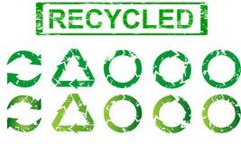 Conjunto de reciclar símbolos Fotos de archivo libres de regalías