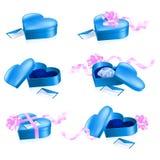 Conjunto de rectángulos azules en dimensión de una variable del corazón libre illustration