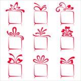Conjunto de rectángulos de regalo Imagenes de archivo