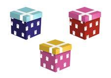 Conjunto de rectángulos de regalo coloridos Fotografía de archivo