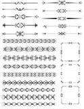 Conjunto de reglas ornamentales Imagen de archivo