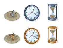 Conjunto de relojes Imagen de archivo