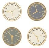 Conjunto de relojes Imagen de archivo libre de regalías