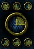 Conjunto de relojes con el fondo del maleficio Fotografía de archivo libre de regalías